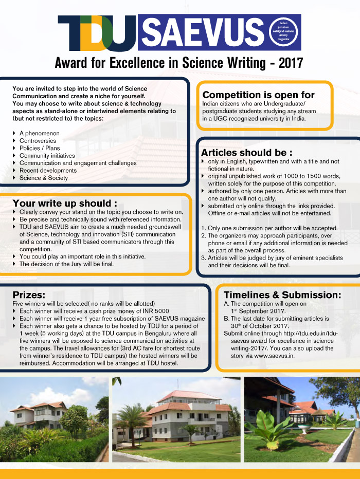Award for Excellence in Science Writing - 2017